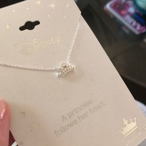 Sterling Silver Disney Princess Crown Necklace